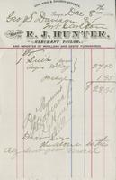 Invoice for Geo. S. Davison from R.J. Hunter