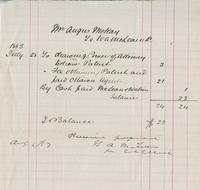 Invoice for Angus McKay from N. A. McLean