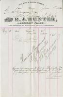 Invoice for G.S. Davison from R.J. Hunter