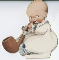 [Baby smoking pipe]