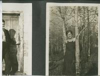 [Two photographs - woman and man]
