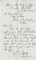 Letter to Angus McKay from J.J. Hargrave