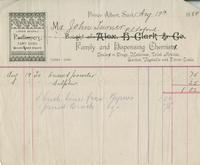 Invoice for Angus McKay from Alex H. Clark & Co.
