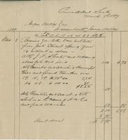 Invoice for Angus McKay listing land purchases and taxes