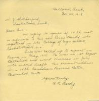 Letter re: Percy Hardy, Nov. 25, 1918