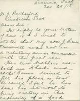 Letter re: J. Bruce Maxwell, Nov. 23, 1918