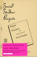 1946 Bulletin for teachers for grades XI and X social studies. (Projects)