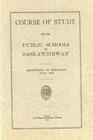 1913 Course of study for the public schools of Saskatchewan