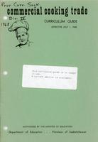 1968 Commercial cooking trade Curriculum Guide.