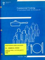 1968 Commercial cooking. A curriculum guide for division IV