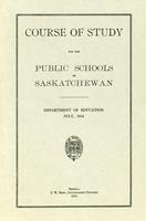 1914 Course of study for the public schools of Saskatchewan