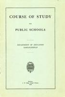 1918 Course of study for the public schools
