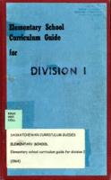 1964 Elementary School Curriculum Guide for Division I