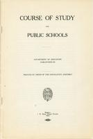 1919 Course of study for the public schools