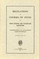 1915 Regulations and courses of study for high schools and collegiate institutes