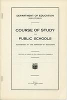 1921 Course of study for public schools