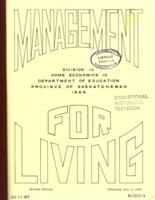1969 Management for Living : home economics 10, division IV rev. ed
