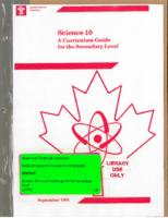 1991 Science 10 A Curriculum Guide for the Secondary Level