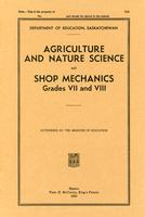 1938 Agriculture and nature science and shop mechanics, grades VII and VIII