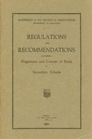 1925 Regulations and recommendations governing programme and courses of study for secondary schools