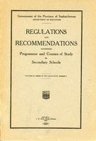 1923 Regulations and recommendations governing programme and courses of study for secondary schools