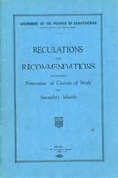 1927 Regulations and recommendations governing programme of courses of study for secondary schools