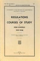 1937 Regulations and courses of study for high schools 1937-1938