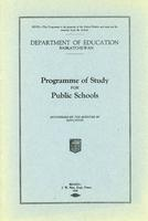 1928 Programme of study for public schools