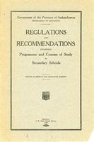 1924 Regulations and recommendations governing programme and courses of study for secondary schools