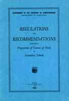 1928 Regulations and recommendations governing programme and courses of study for secondary schools