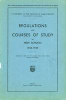 1934 Regulations and courses of study for high schools