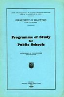 1929 Programme of study for public schools