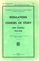 1935 Regulations and courses of study for high schools