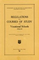 1932 Regulations and courses of study for vocational schools