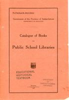 1922 Catalogue of books for public school libraries