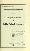 1929 Catalogue of books for public school libraries