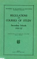 1931 Regulations and courses of study for secondary schools