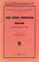 1942 High school curriculum and regulations