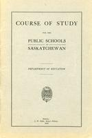 1916 Course of study for the public schools of Saskatchewan