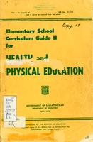 1956 Elementary school curriculum guide II for health and physical education