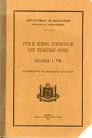 1931 Public school curriculum and teachers' guide: grades I-VIII