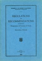 1926 Regulations and recommendations governing programme of courses of study for secondary schools