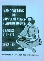 1963 Annotations on supplementary reading books. Grades VII-XII