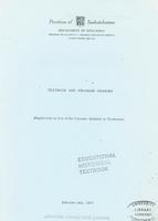 1972 Textbook and program changes. Supplement in lieu of the Circular relative to textbooks