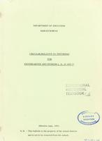 1973 Circular relative to textbooks for Kindergarten and Division I, II, III and IV