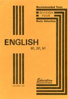 1976 English 10, 20, 30: recommended texts: division IV basic selection
