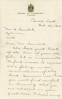 Letter of sympathy - Oct 28, 1944 - Mrs. A.M. Nicholson
