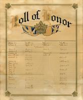 WW1 Roll of Honor, lists of those signed up