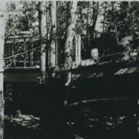 Lake Waskesiu July 1933 - Marina Paint - Building the New Nanette