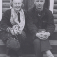 Bill Shulhan and Myrtle Shulhan taken about 1955 at Waskesiu